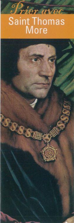 """Signet """"Prier avec"""" Saint Thomas More - Lot de 10 - Prier avec quelques grands témoins"""