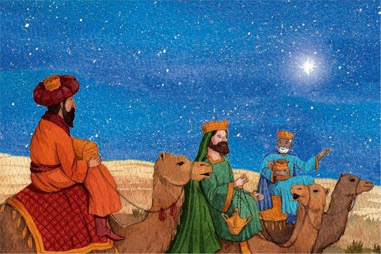 10 cartes doubles nuit de Noël - Les cadeaux des rois mages