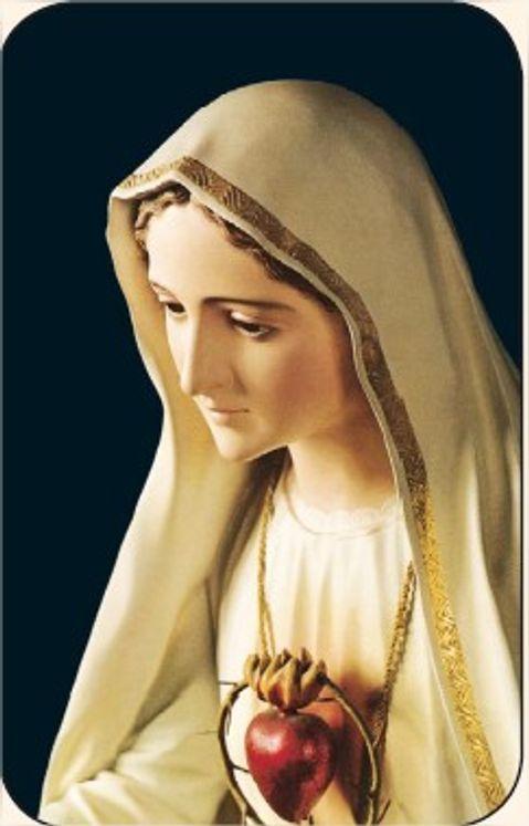 Paquet de 50 Cartes - Prière - CB1122A - Notre-Dame de Fatima