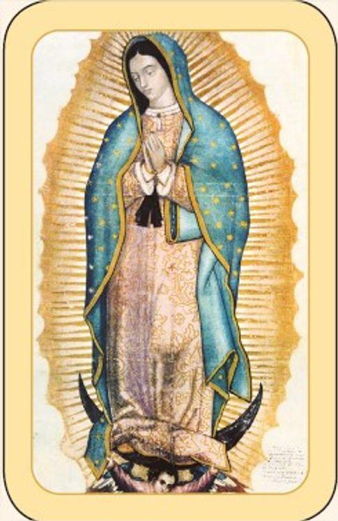 Paquet de 50 Cartes - Prière - CB1230 - Notre-Dame de Guadalupe