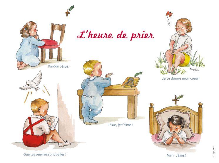 Poster cartonné  L'heure de prier