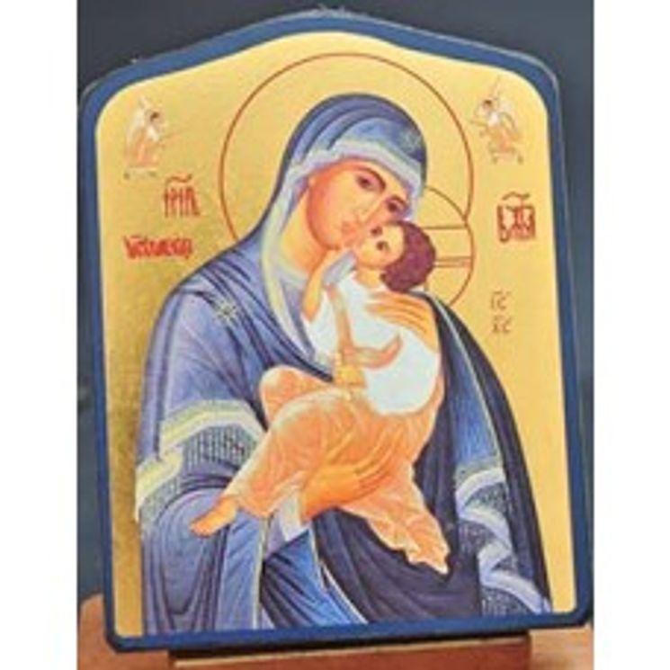Icône qualité Or Marie qui aime l´humanité 12 x 15 cm