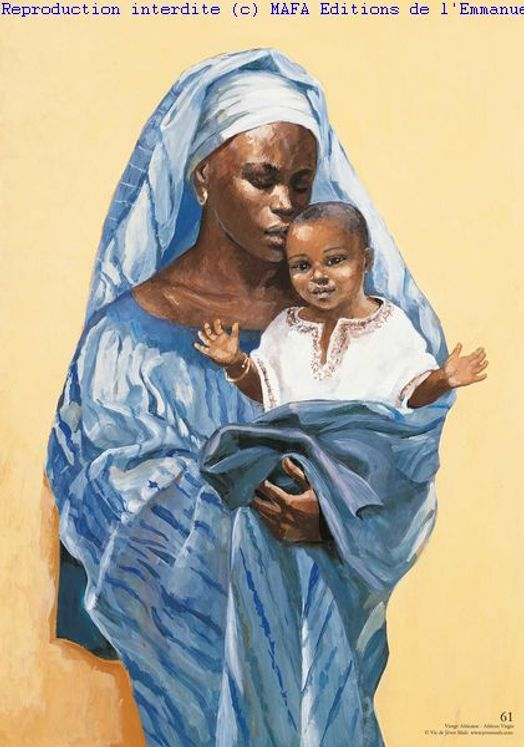 Vierge Africaine poster Vie de Jésus Mafa