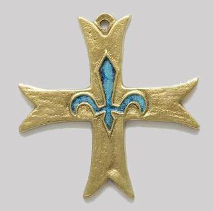 Croix des scouts d´Europe en bronze émaillé