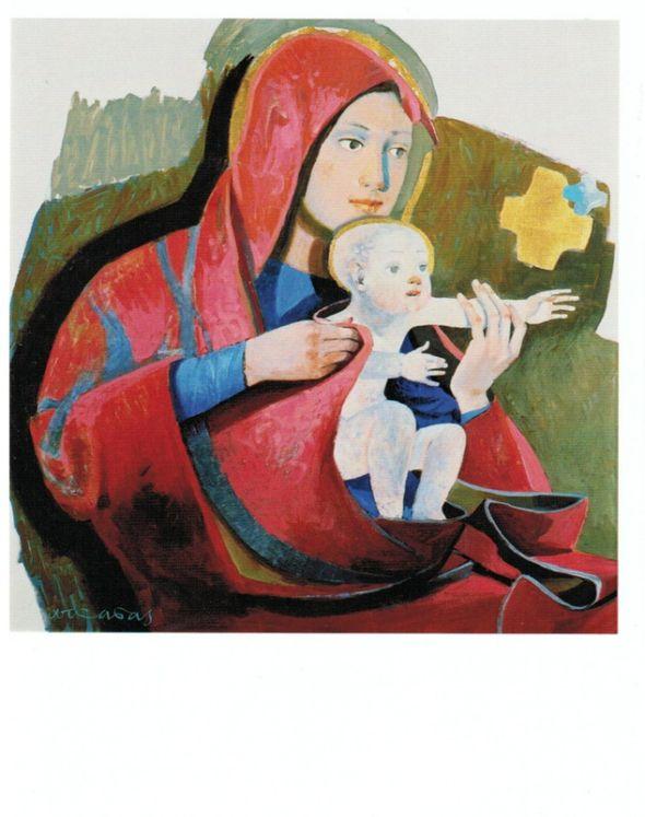 Icône Vierge à l´enfant Arcabas - 10 x 13 cm