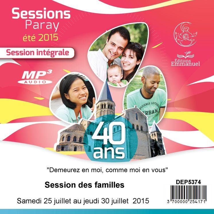 MP3 Session des familles du 25 juillet au 30 juillet 2015