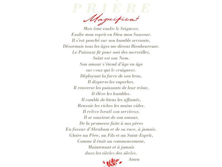 Image cartonnée Prière Magnificat