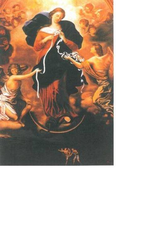 Image Marie qui défait les noeuds - avec prière au dos