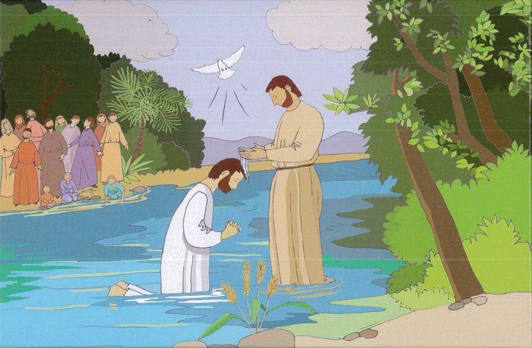 Puzzle coffret 63 pièces - Le baptême de Jésus