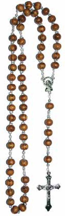 Chapelet bois d´olivier, Christ métal