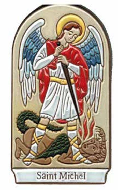 Plaque murale céramique Saint Michel