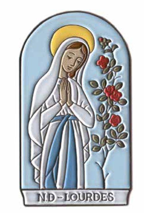 Plaque murale céramique Notre-Dame de Lourdes