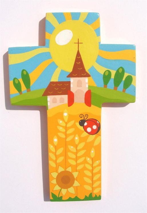 Croix Champ de blé coccinelle