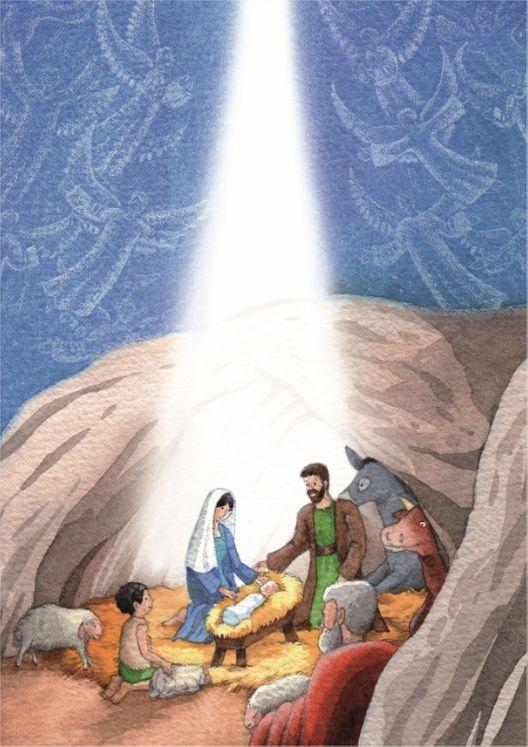 10 cartes doubles nuit de Noël - Les Anges