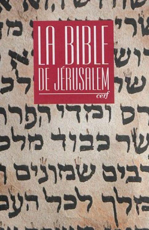 La Bible de Jérusalem Major toile rouge sous étui
