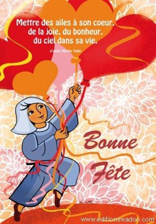 """Carte Moinette """"Bonne fête"""""""