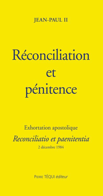 Réconciliation et pénitence - Reconciliatio et paenitentia
