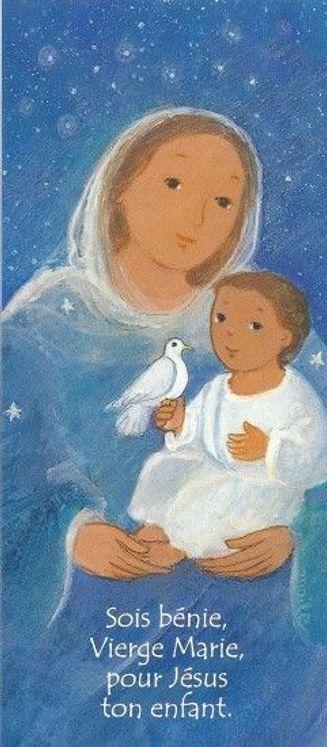 Lot de 25 - Signet Maïté Roche Marie - Pour Jésus ton enfant