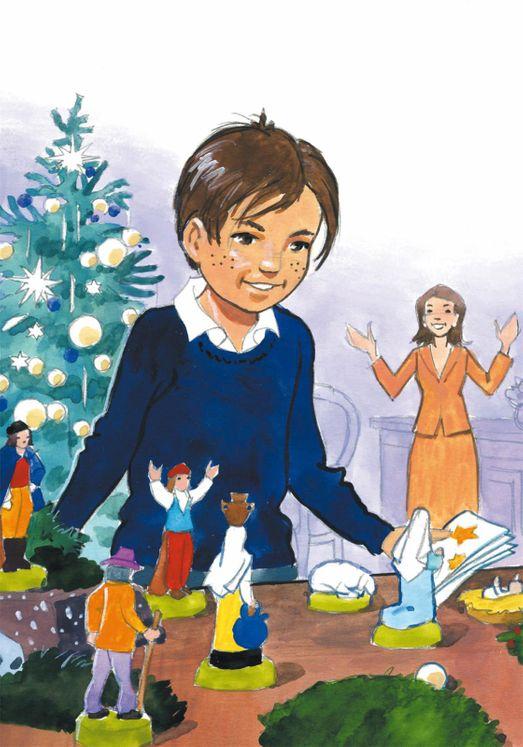 Lot de 12 cartes postales de Noël