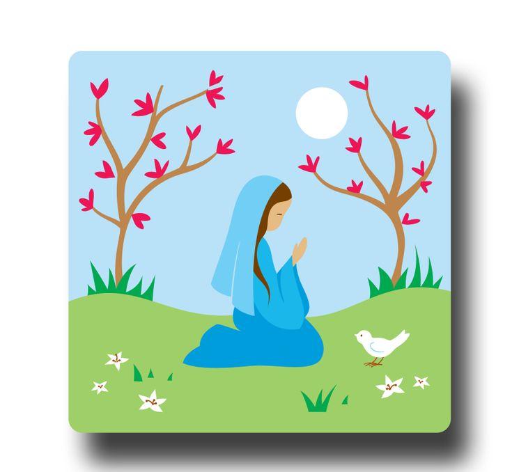 Peinture sur bois Vierge Marie