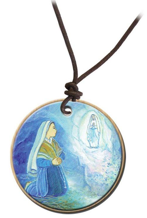 Pendentif Maïte Roche - Sainte Bernadette / Notre Dame de Lourdes