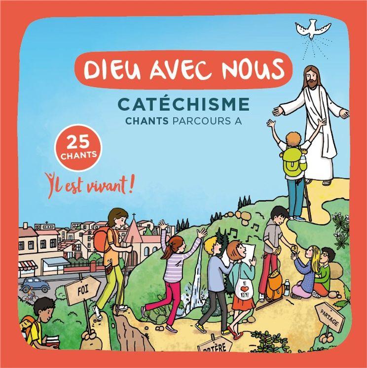 """Lot 10 CD du Catéchisme """" Dieu avec nous """" Parcours A"""