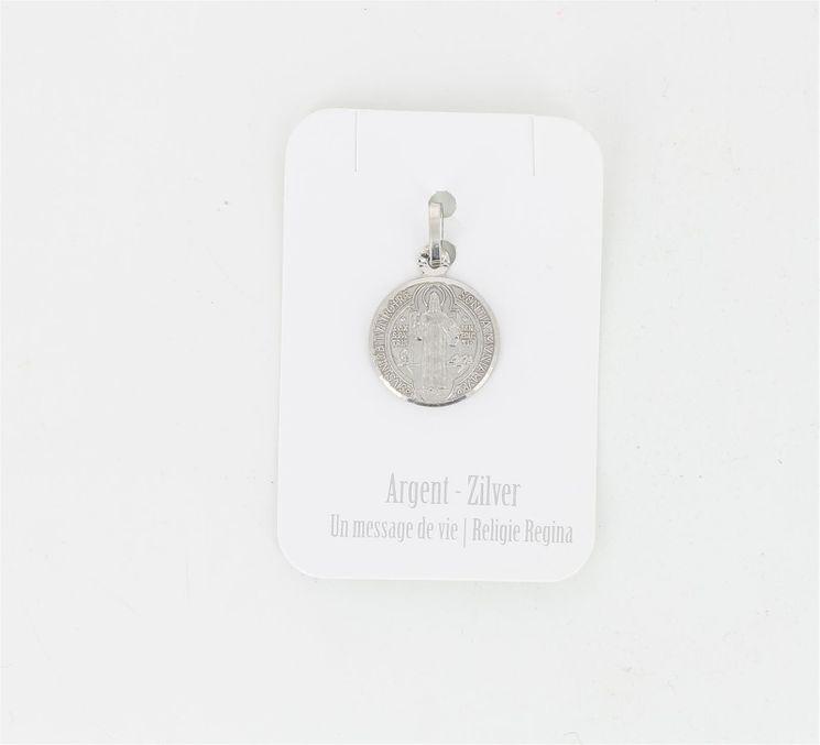 Médaille argent rhodié - St Benoit