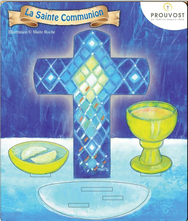 La Sainte Communion - Saint en bois Maïté Roche
