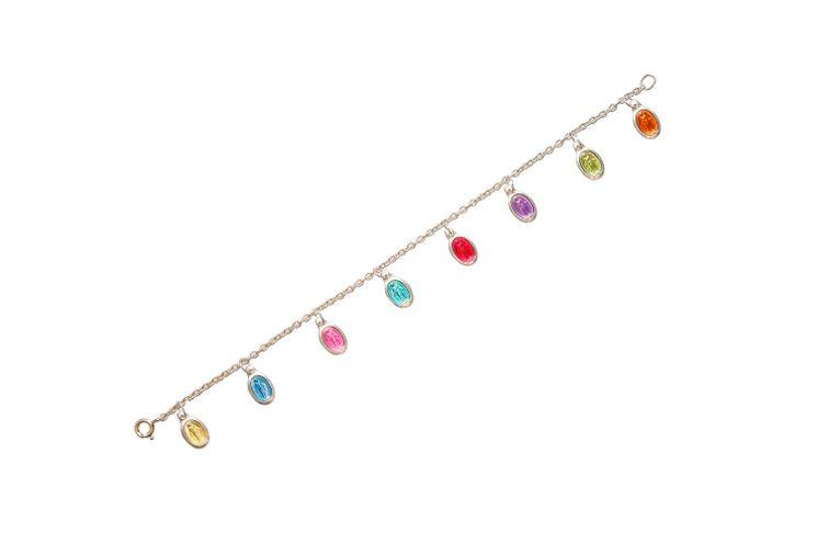 Bracelet  avec 8 médailles Miraculeuse en couleur