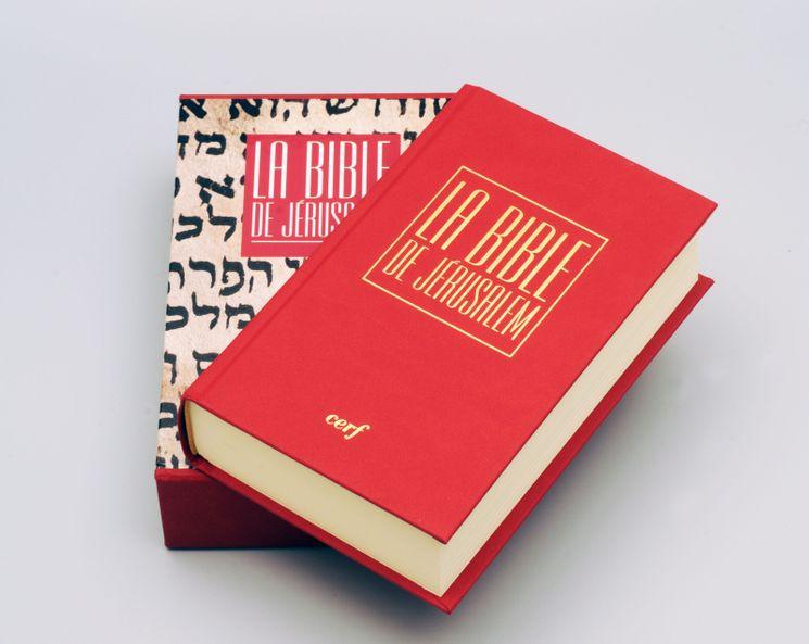Bible de Jéerusalem poche reliée rouge sous coffret