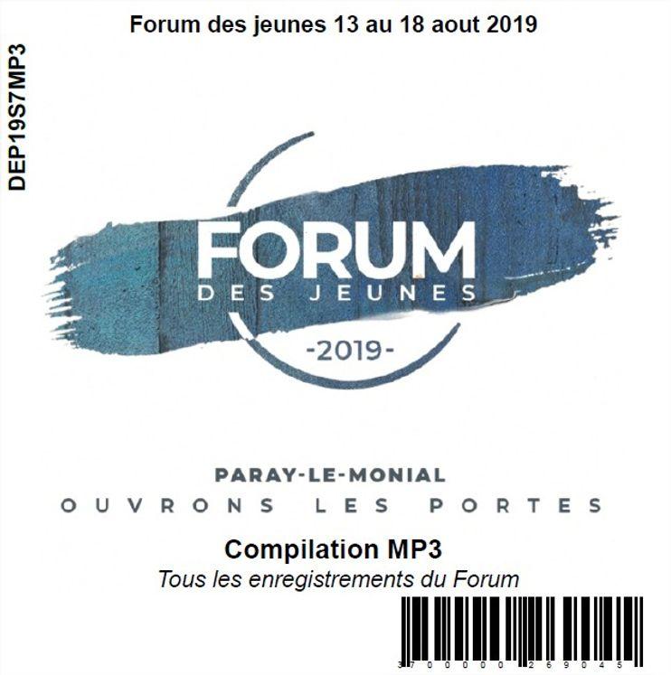 Forum des jeunes 13 au 18 aout 2019, CD MP3