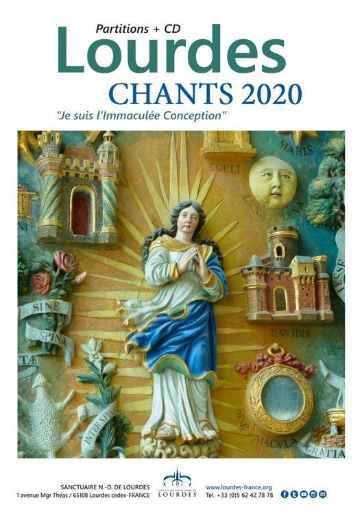 Lourdes - chants 2020  - Partitions + CD
