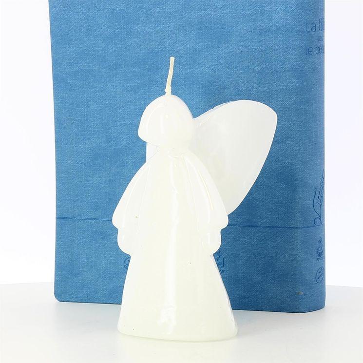 Bougie Ange finition céramique 13.5 cm