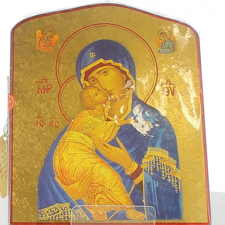 Icône qualité or Vierge de Vladimir 18,5 x 24 cm