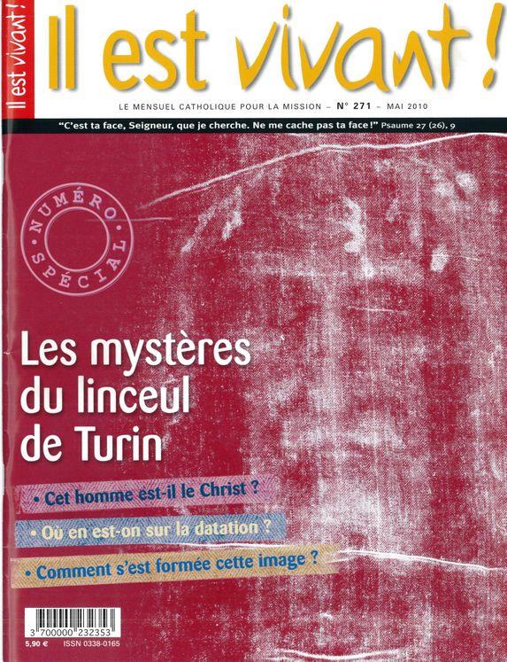 Pack de 10 ex N°271 - Il est vivant - Mai 2010 - Les mystères du Linceul de Turin
